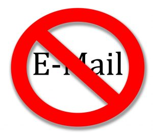 Avoid using work email when seeking healthcare jobs